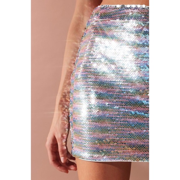 0d7a9cafbd Urban Outfitters Skirts | Nwt Uo Fun Flirty Rainbow Sequins Mini ...
